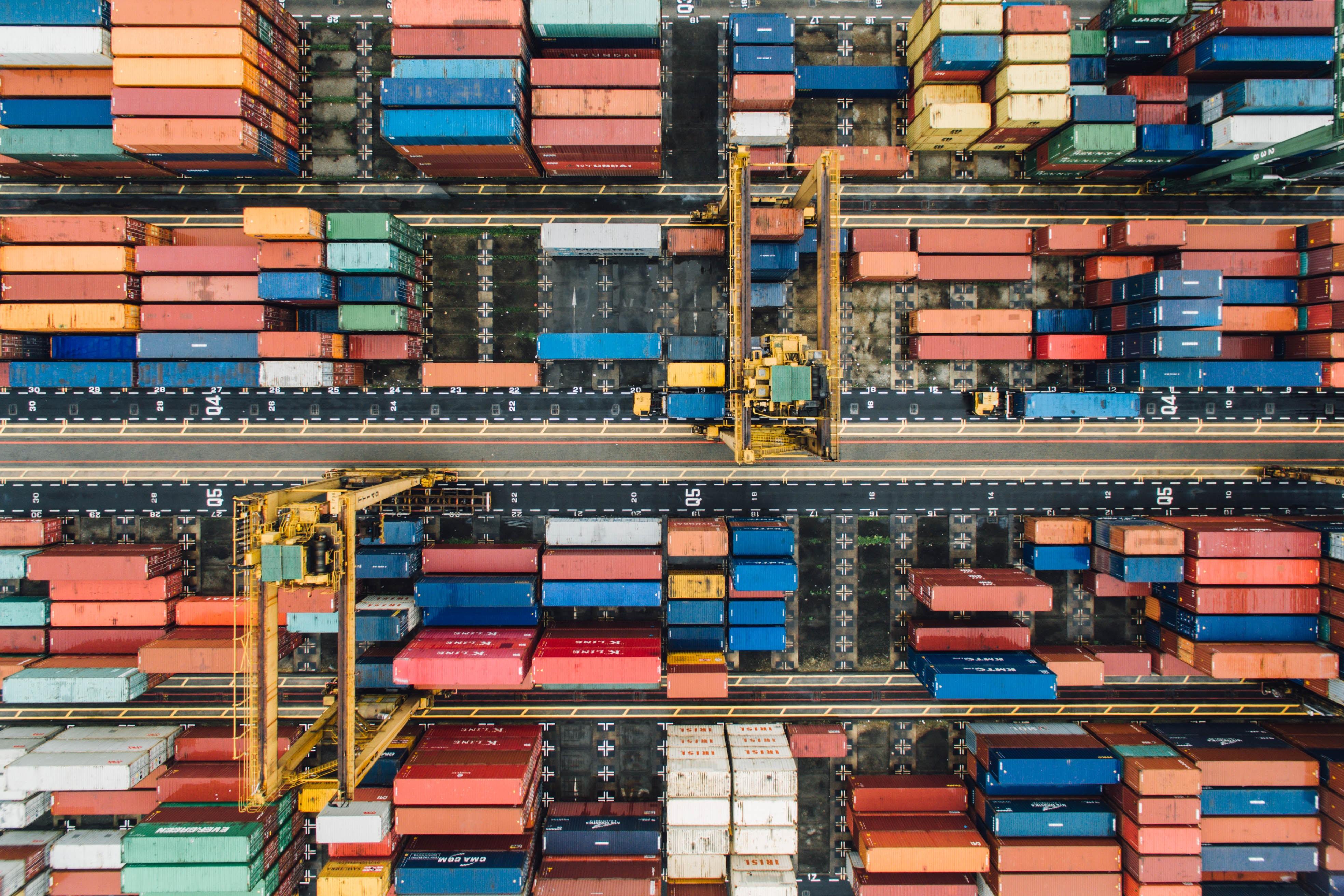 Der große Containerhafen